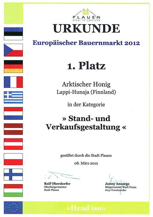 1st prize most beautiful hut Plauen 2012