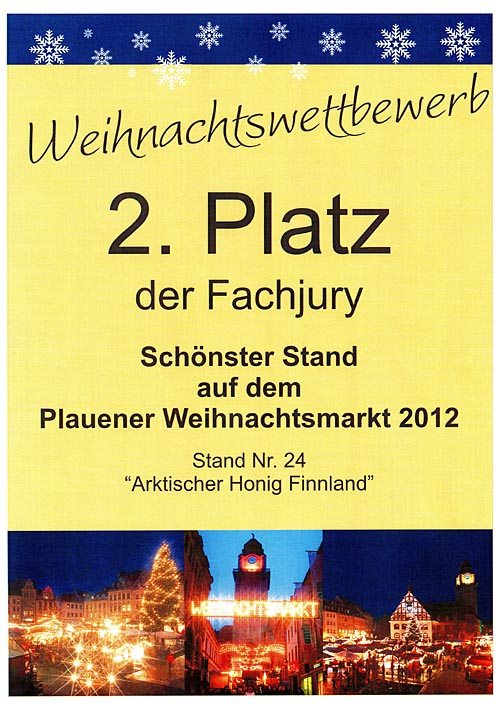 2nd prize most beautiful hut Plauen 2012