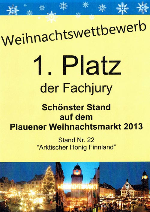 1st prize most beautiful hut Plauen 2013