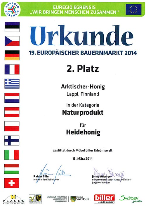 2nd prize nature products Plauen 2014