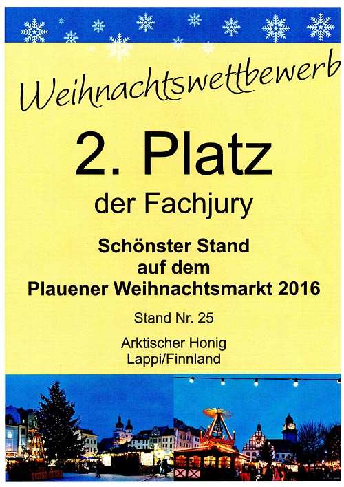 2nd prize most beautiful hut Plauen 2016