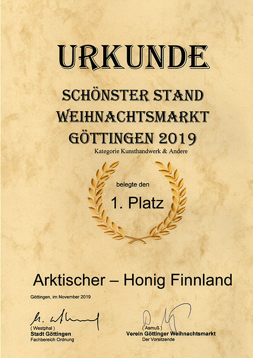 1st prize most beautiful hut Göttingen 2019