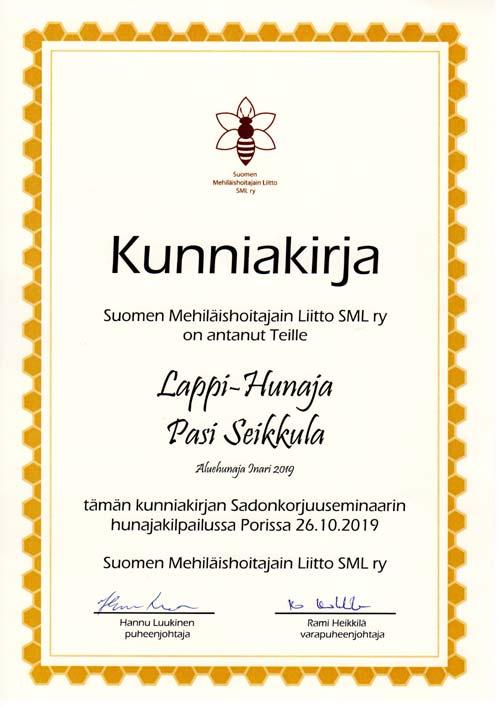 Laatukunniakirja Inari 2019 SML r.y. 2019