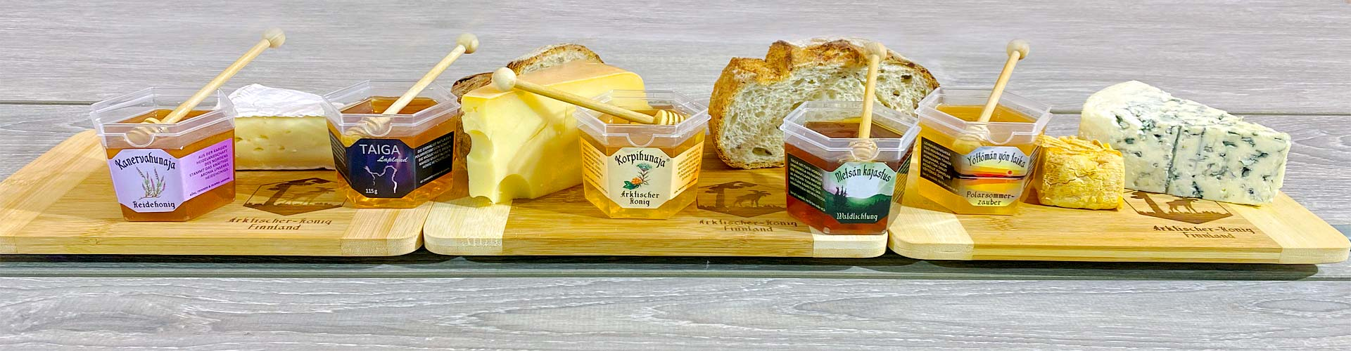 Käse mit Honig ist eine wunderbare Geschmackskombination!