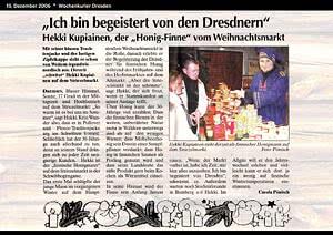 Wochenkurier Dresden, 13.12.2006