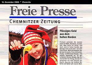 Freie Presse Chemnitz, 16.12.2008