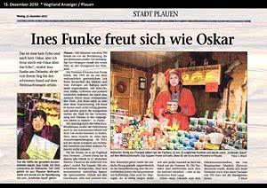 Vogtland Anzeiger Plauen, 13.12.2010