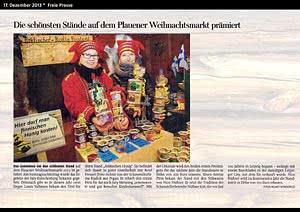 Freie Presse  Plauen, 17.12.2013
