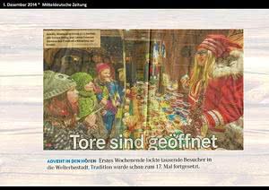 Mitteldeut. Zeitung Quedlinburg, 1.12.2014