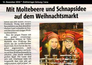 Ostthüringer-Zeitung Jena, 12.12.2014