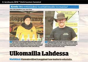 Etelä-Suomen Sanomat Lahti, 8.6.2018